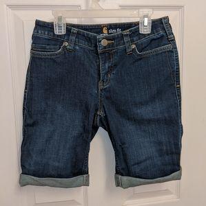Carhartt Women's Slim Fit Knee Length Denim Shorts